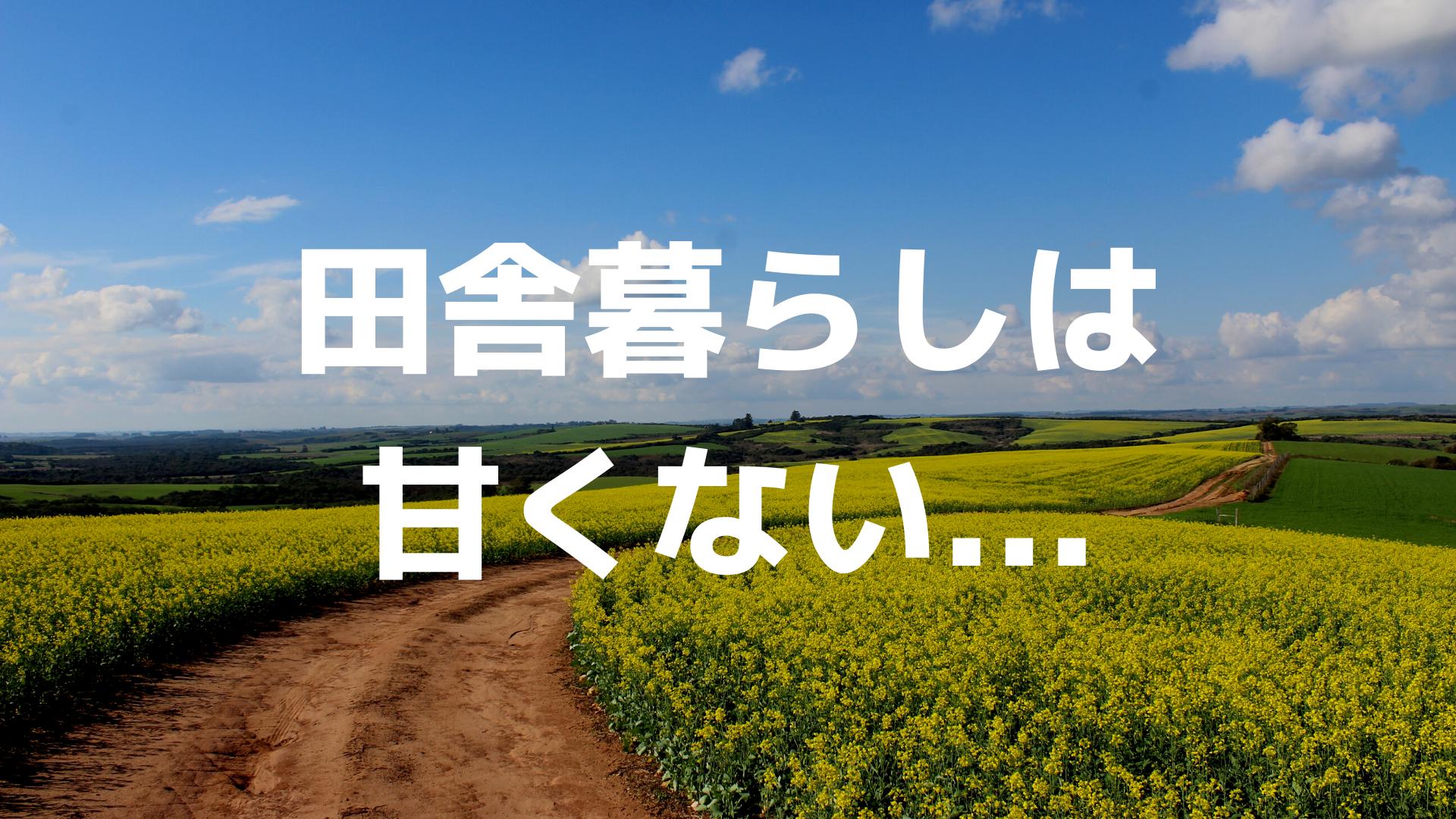 東京から田舎に戻った僕が教える、田舎で暮らすために必ず理解しておきたい3つのこと。